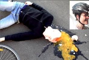 EL PINAR. Conductor alcoholizado + ciclista sin casco = doloroso accidente...