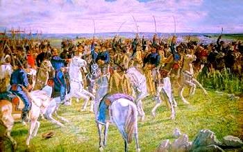 LAS PIEDRAS. El mural alusivo a la Batalla de las Piedras tendrá 2 metros de alto, por 13 de largo.