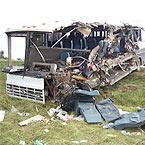 CANELONES. El chófer del omnibus se salvo de morir pero tiene fractura expuesta.