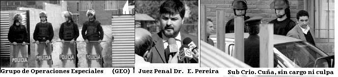 CIUDAD DE LA COSTA. El Juez procesó al doble homicida que resultó ser un policia canario.