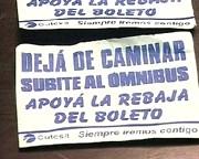 """CUTCSA apoya la suba del gasoil y para eso invita a """"subirse al bus"""""""