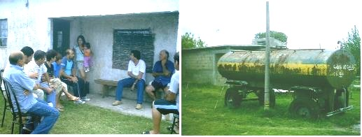 Los vecinos del barrio Los Solares piden agua corriente y potable para 40 familias y 60 niños.