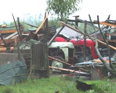 Santa Lucia sufrió los mayores daños por viento huracanado