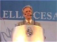 Vázquez habló en la plaza Independencia, casi 3 horas (*) ¡Aló, Presidente!