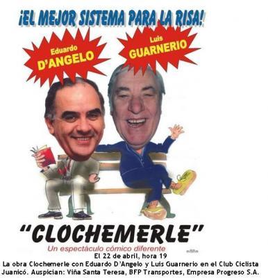 D´Angelo y Guarnerio, con la obra Clochemerle, en el Club Ciclista