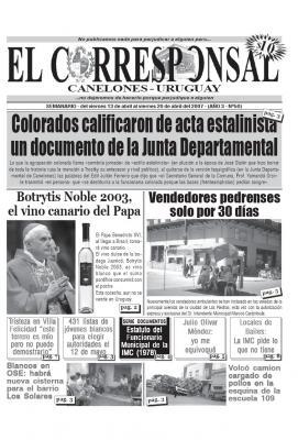 EL CORRESPONSAL edición 50.