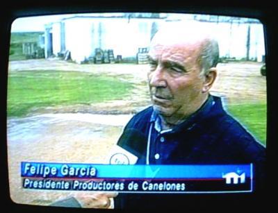 Coparon y robaron la casa de Felipe García.