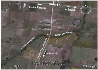 Edil canario utiliza mapa de Google, para ilustrar pedido al Intendente.