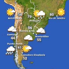 Desde Las Piedras se reporta el pronóstico meteorológico al mundo.