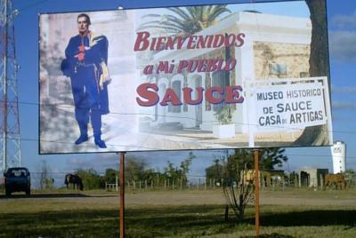 """Terminó la polémica, lo dice Artigas:  """"Bienvenidos a mi pueblo, Sauce"""""""