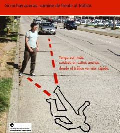 Una camioneta le partió una pierna al peaton German Bermúdez, en ruta 7