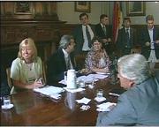 Los 10 intendentes blancos analizaron el proyecto de descentralización del gobierno.