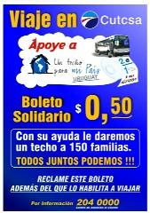 La empresa CUTCSA le puso ruedas a la ONG Un Techo para Uruguay
