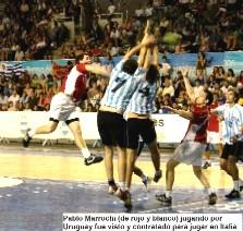 Pablo Marrochi, contratado por Italia como embajador del handball uruguayo