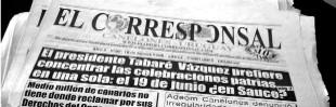 Diario EL CORRESPONSAL (tapa de la última edición en papel)