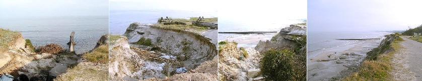 La erosión se está  llevando la costa floresteña al mar