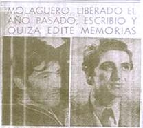 Molaguero: el libro de mi secuestro colaborará al entendimiento, no tengo odios