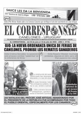 Salió y se puso a la venta EL CORRESPONSAL edición 78