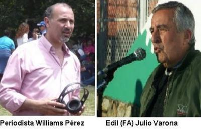 Edil (FA) Julio Varona: el que aparece en la foto, es el periodista Williams Pérez