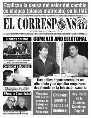 EL CORRESPONSAL edición 86
