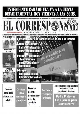 Diario El Corresponsal (Edición 88 - Especial de 16 páginas)