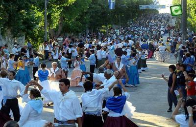 """El """"Gran Pericón"""" canario homenajea a la bandera uruguaya, iría al Record Guinness"""