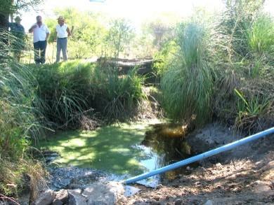 Sorprendente!, el Ejército y la Comuna Canaria tiran el agua transportada en pozos y charcas resecas de los productores