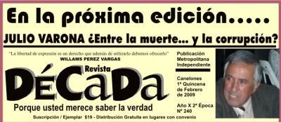 Reapareció Pérez Vargas y su Revista Década