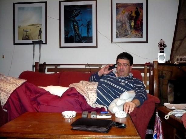 Se accidentó Alberto Perdomo